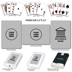 Solid Back Gray Poker Size Playing Cards